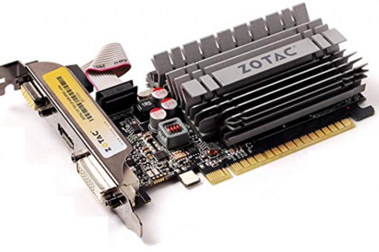 Fanless low profile PCIe video card
