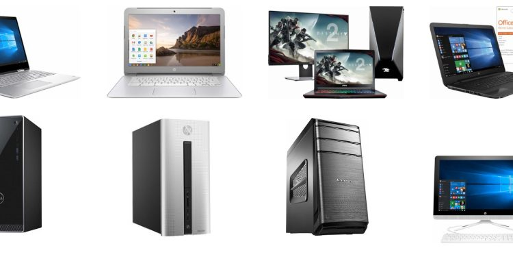 Desktop and laptop computers
